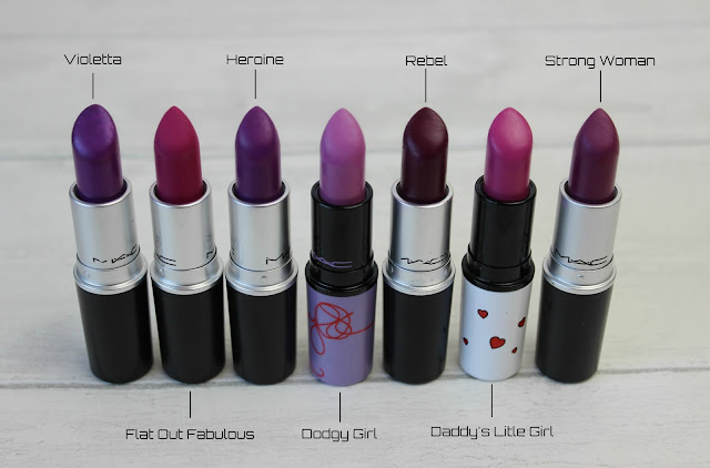 MAC Purple Lipsticks Review