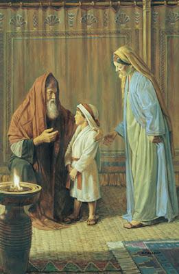 Hannah presenting Samuel to Eli - Robert T. Barrett