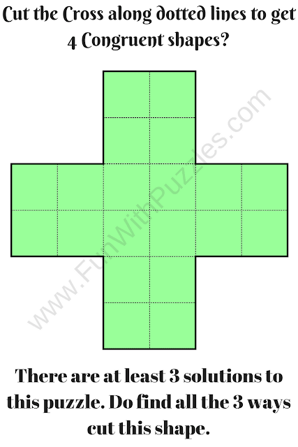 Cut the Cross Puzzle