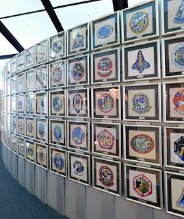 nasa mission patch wall