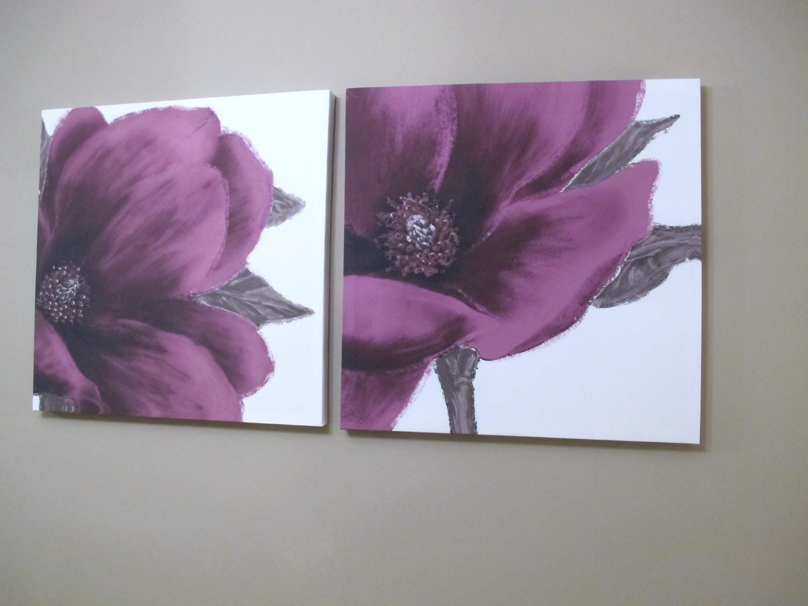 Plum Wall Art Canvas I Wall Decal & Plum Canvas Wall Art - Elitflat