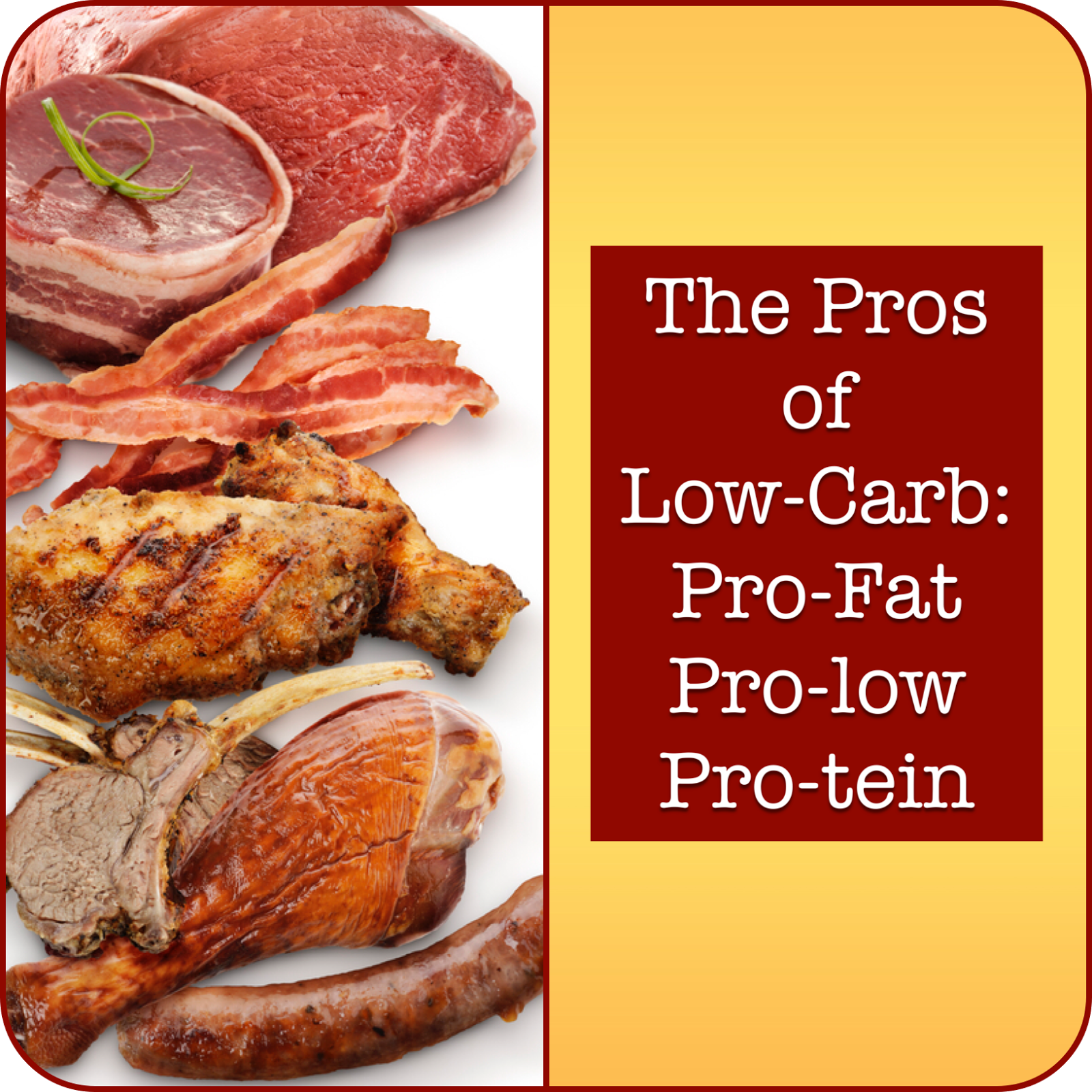 THE PROS OF LOW-CARB