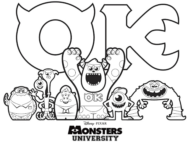 Free Monsters Inc Coloring Pages Printable For Kids