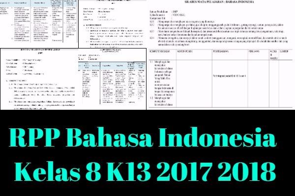 RPP Bahasa Indonesia Kelas 8 K13 Revisi 2017 2018