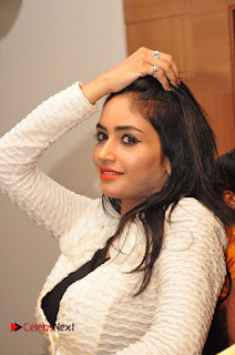 Actress Pooja Sree  Pictures at Khaan Saab Restuarent Launch in Gachibowli   0122.JPG