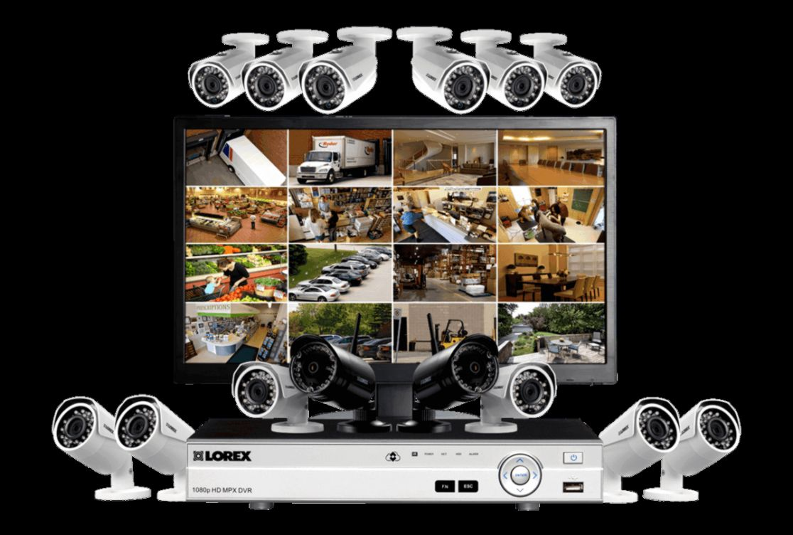 medium resolution of complete security system with monitor 12 wired 1080p outdoor