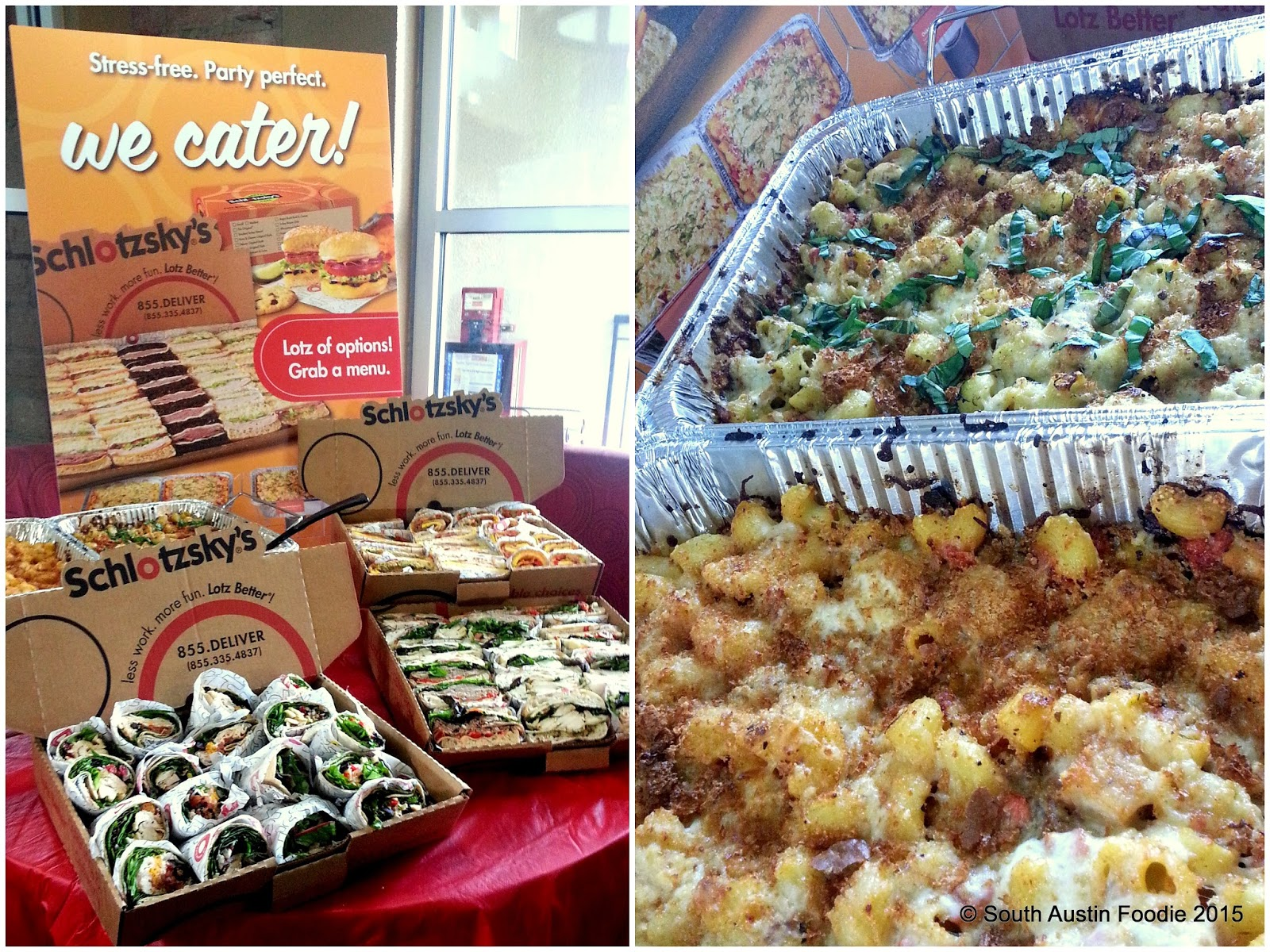 Schlotzsky's -- catering options