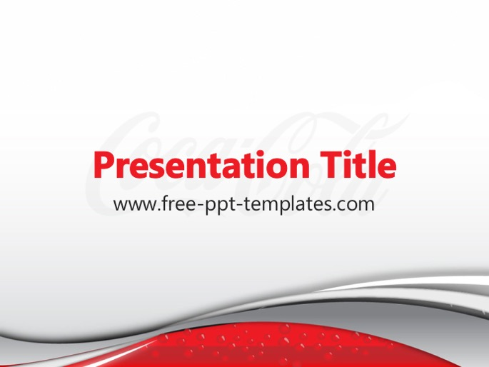 coca-cola ppt template, Modern powerpoint