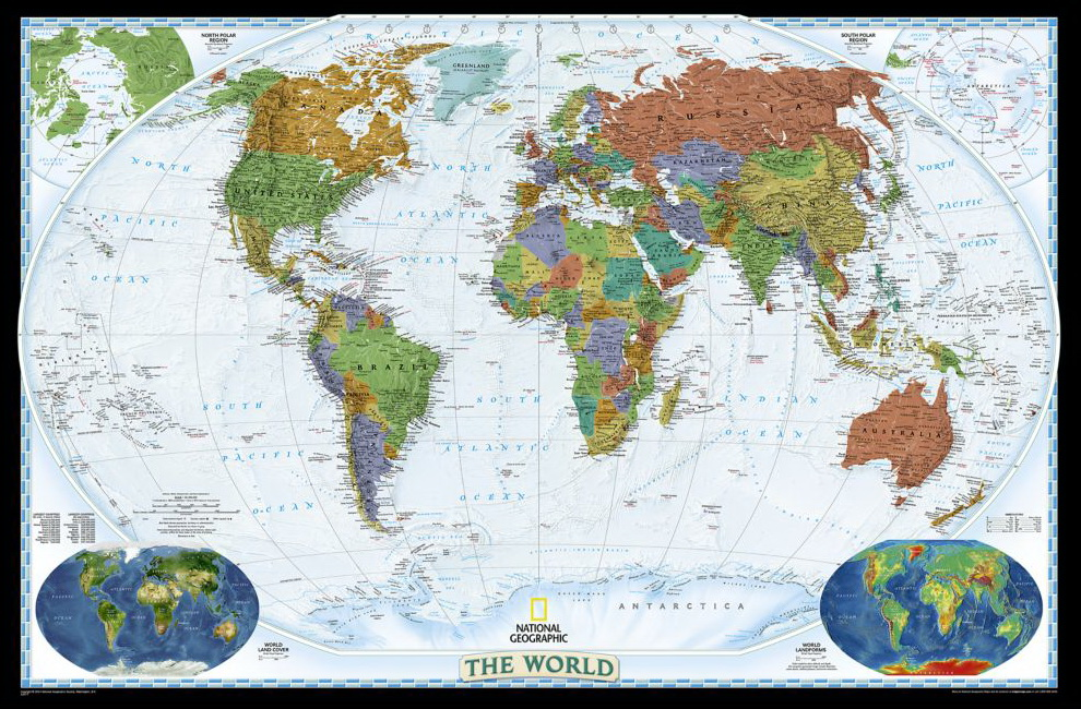 World Decorator (National Geographic Reference Map)