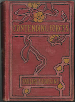 "A red book cover for ""Contending Forces."""