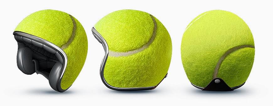 Helm Unik Bola Tenis