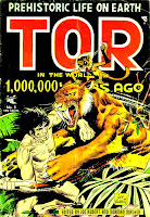 Tor v1 #5 st john golden age comic book cover art by Joe Kubert