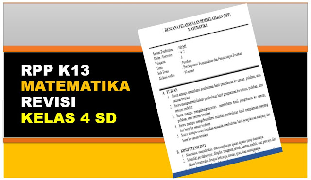 Download RPP Matematika K13 SD Revisi Kelas 4