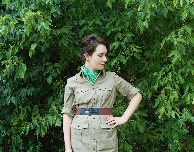 safari dress, safari, explorer dress, summer dress, summer fashion, Sabrina, Vibrant Vintage, vintage look, vintage inspired, retro,