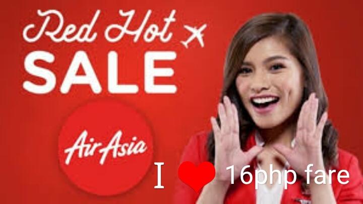 16php Fare for Cebu, Clark, Ilo-ilo, and Tacloban - Red Hot Sale Airasia