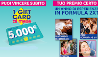 Logo Daygum ''Un anno di sorrisi'': vinci Gift Card da 5.000€ e premi certi esperienze 2x1!