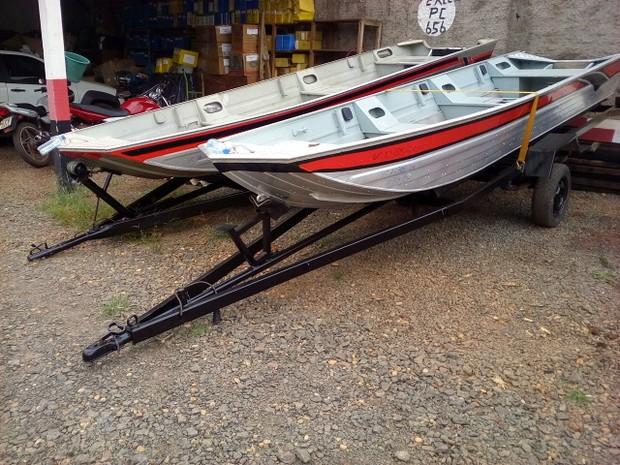 Barcos furtados em Rolim de Moura são recuperados em Cacoal