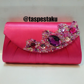 Tas Pesta Clutch Bag Mewah Pink Fanta