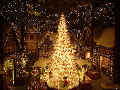 Mercadillo navideño en Rothenburg ob der Tauber, Alemania