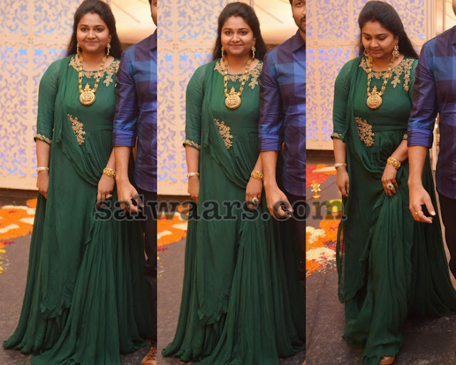 Reshma Gopichand Green Floor Length Salwar
