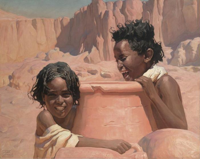 Crianças Carregando Água - Adam Styka