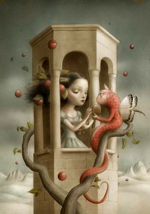 11-Nicoletta-Ceccoli-Surreal-Fairy-Tales-NOT-for-Children-www-designstack-co