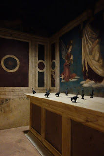Rucellai Chapel and Sepulcre Museum Marino Marini Florence Italy birds