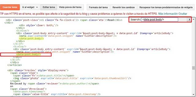 editar platilla en blogger