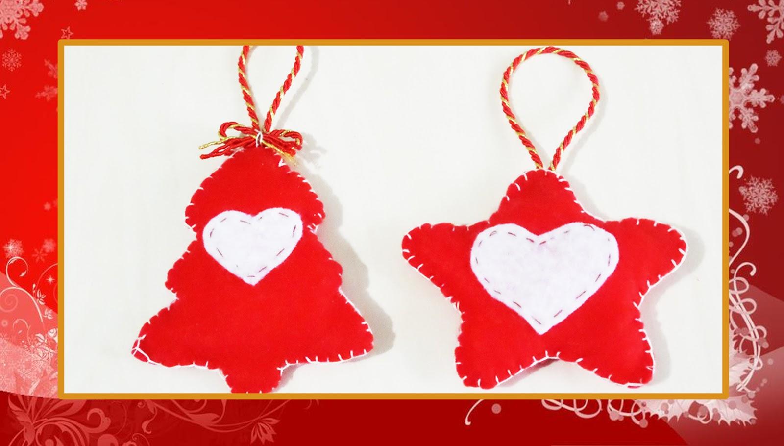 Stella Per Albero Di Natale Fai Da Te.Creative Art Tutorial Decorazioni Natalizie In Feltro Albero E