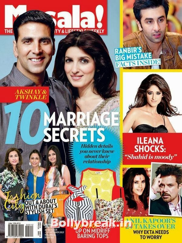 Akshay Kumar & Twinkle Khanna, Bollywood Reel & Real Couples on Cover Ahlan Masala Magazine