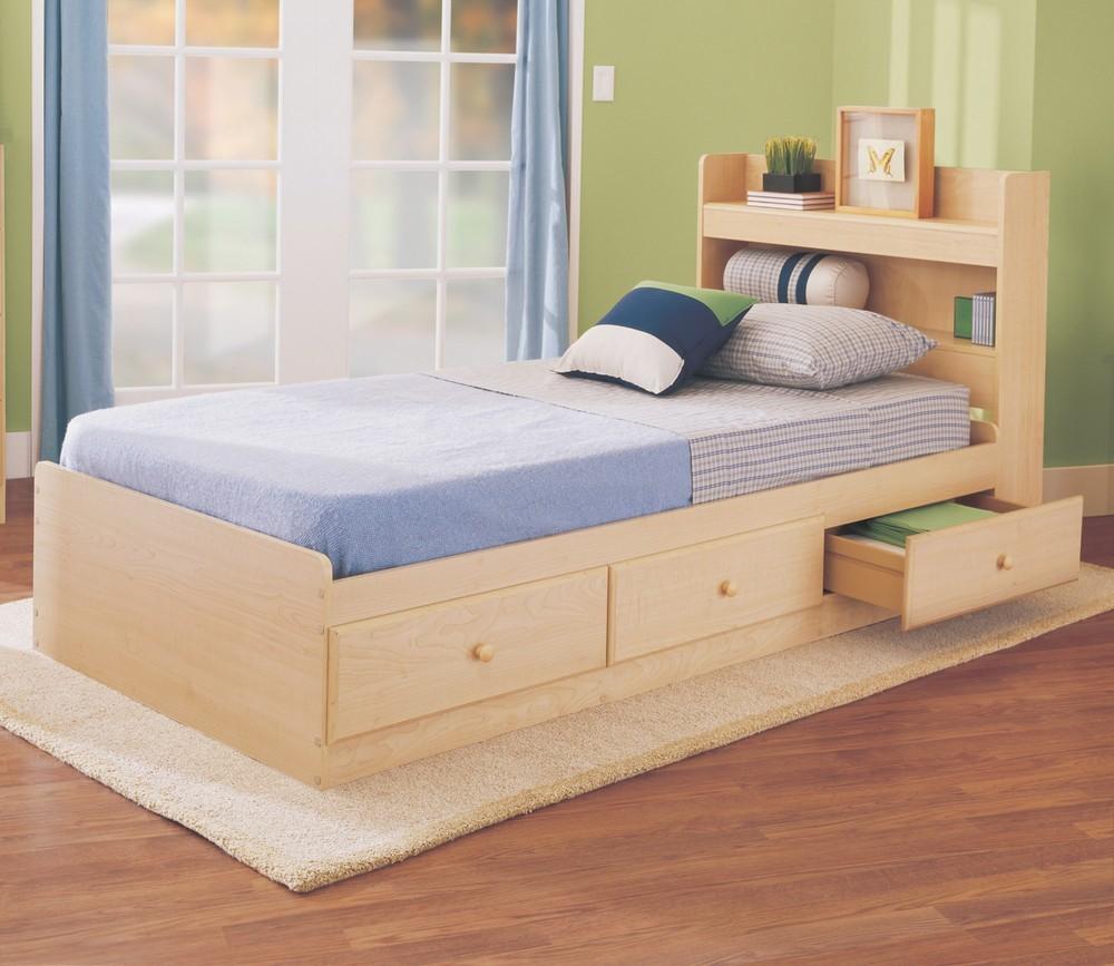 model tempat tidur dengan laci 2