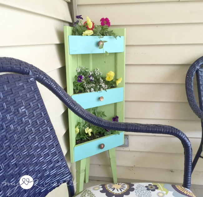 Repurposed Corner Cabinet Planter, MyLove2Create