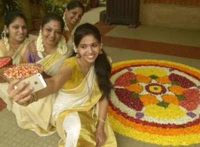 onam flower decoration images