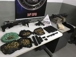 Site policia mg PMMG apreende armas e munições na Pedreira Prado Lopes
