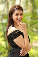Mannara Chopra in Short Off Shoulder Black Dress ~  Exclusive 050.JPG