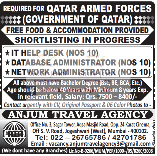 Government job vacancies for Qatar - AMERICAN WORKERS