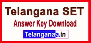 TS Telangana SET Answer Key 2019 Download