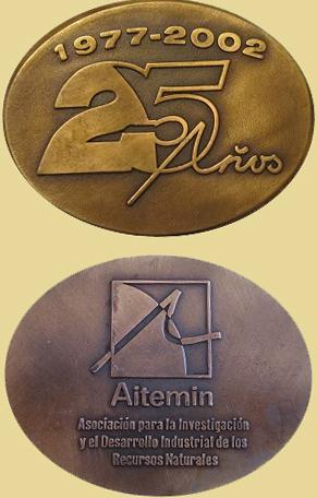 Medalla del 25 Aniversario de Aitemin, 2002