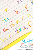 Easy trick to help kids with letter formation and sloppy handwriting