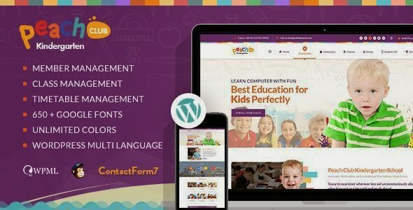 Premium Kindergarten ChildCare WordPress Theme