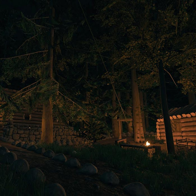 The Forest - Log Cabin Retreat Wallpaper Engine