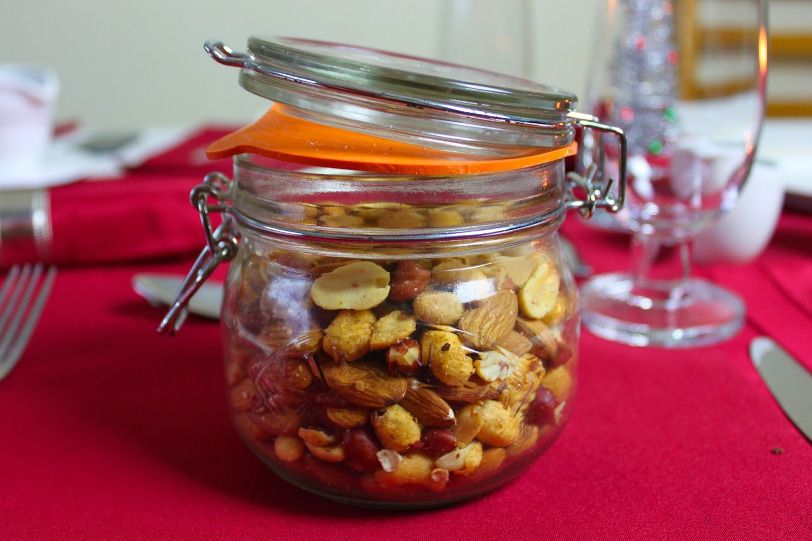 Maple Glazed Cocktail Nuts
