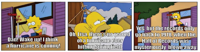 Homer talking about hurricanes
