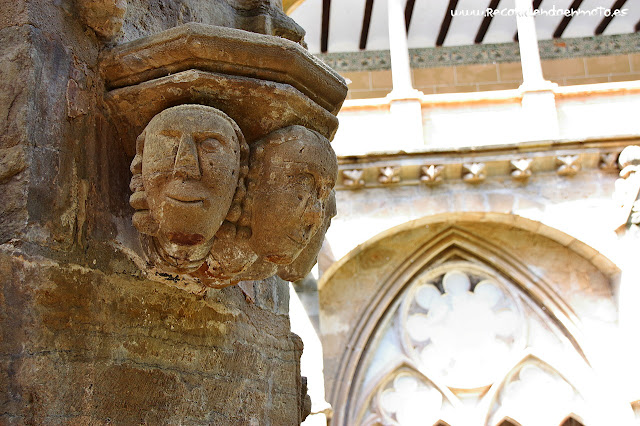 Detalle patio claustro m. Veruela