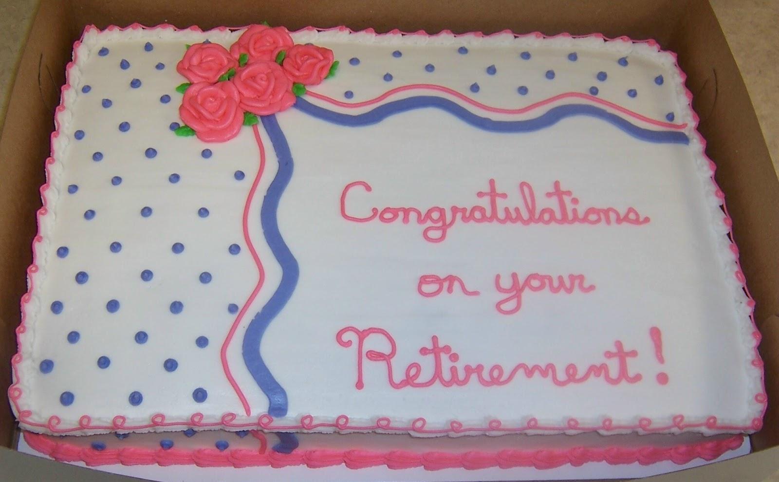 Cake Ideas For Retirement Cakes