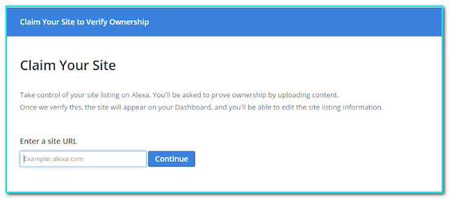 How to Verify Blogger Blog in Alexa