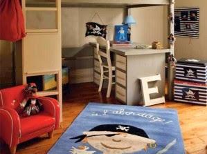 dormitorio para niño pirata
