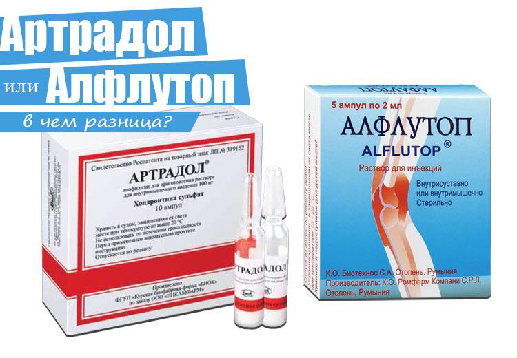 Артрадол и Алфлутоп