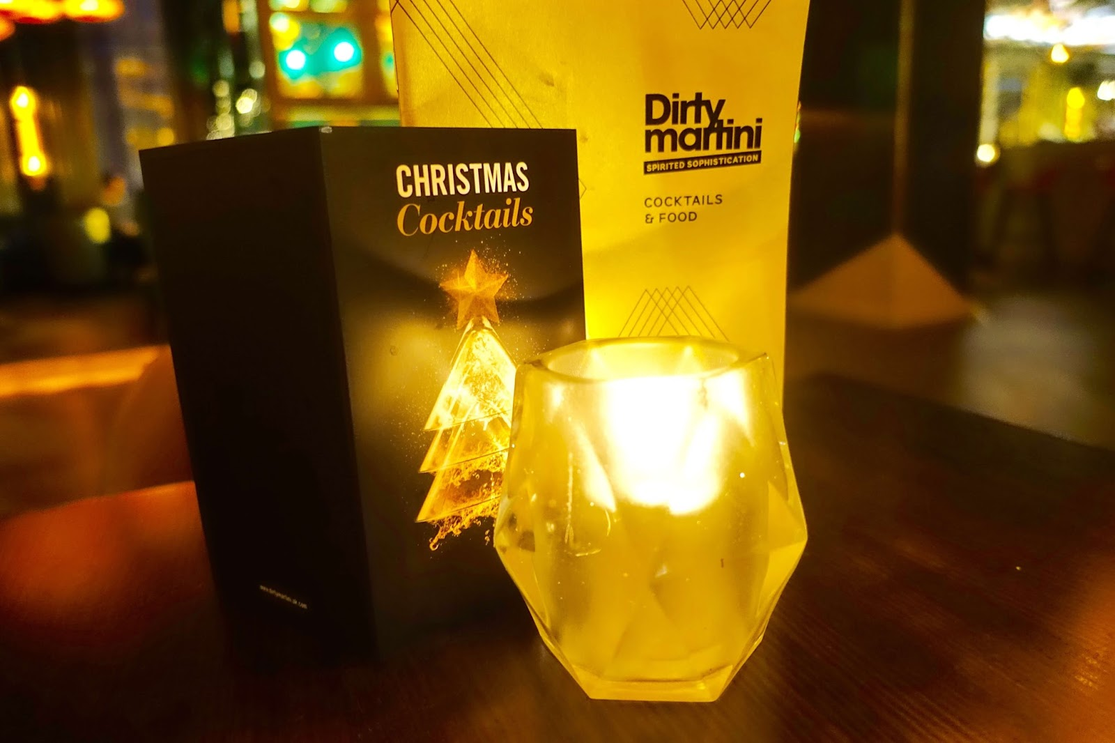 christmas cocktails at dirty martini