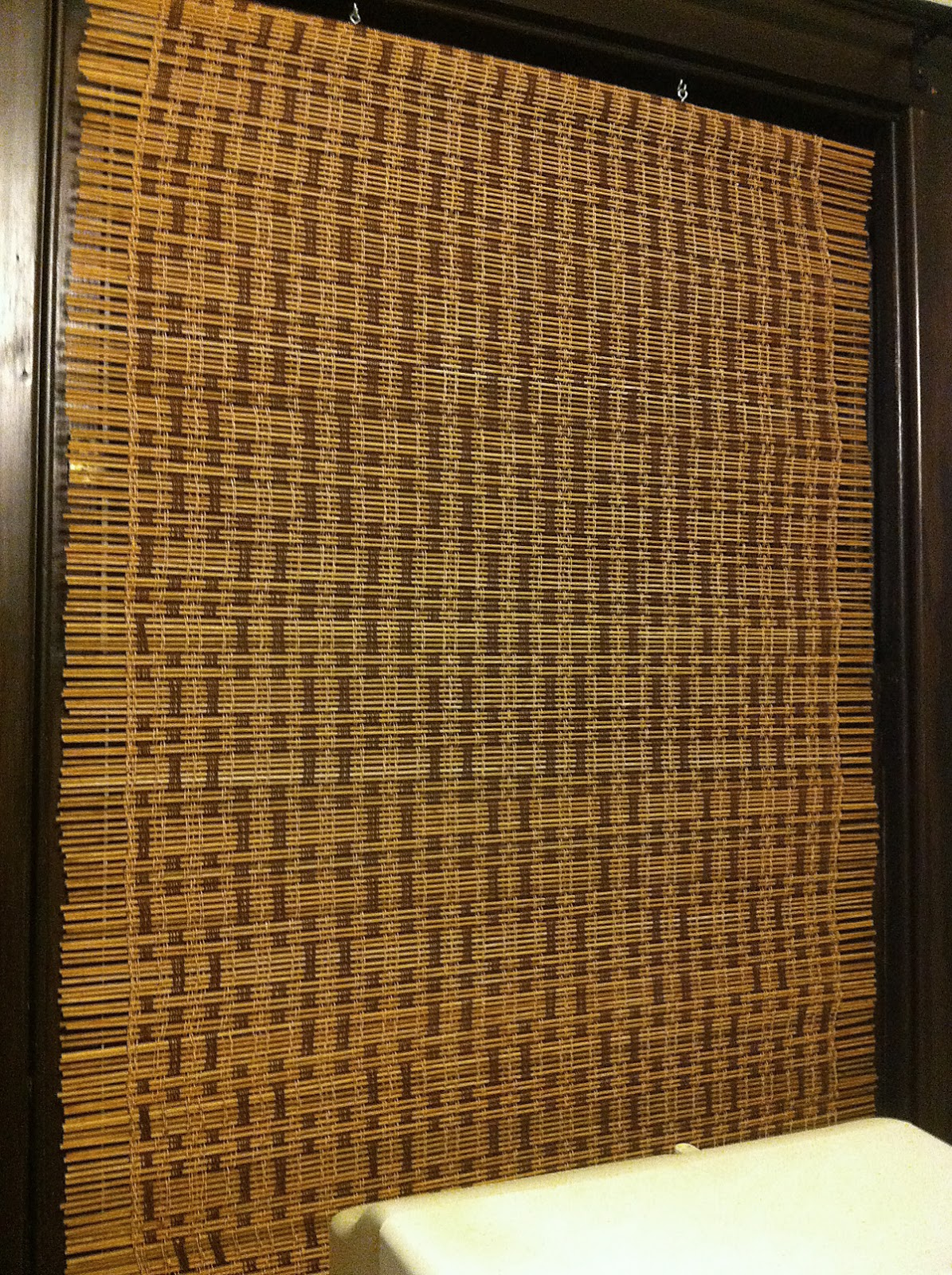 D 246 Rte Weber Finished Bamboo Curtains Hanging In My